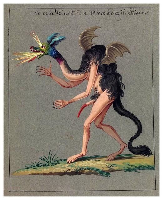 011-Figura de un demonio-Compendium rarissimum…1775- Wellcome Library