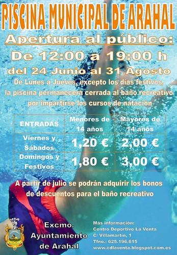 AionSur 35427752456_5fbe2089c9_d Sábado 24 de junio, fecha de apertura de la Piscina Municipal de verano Arahal Provincia