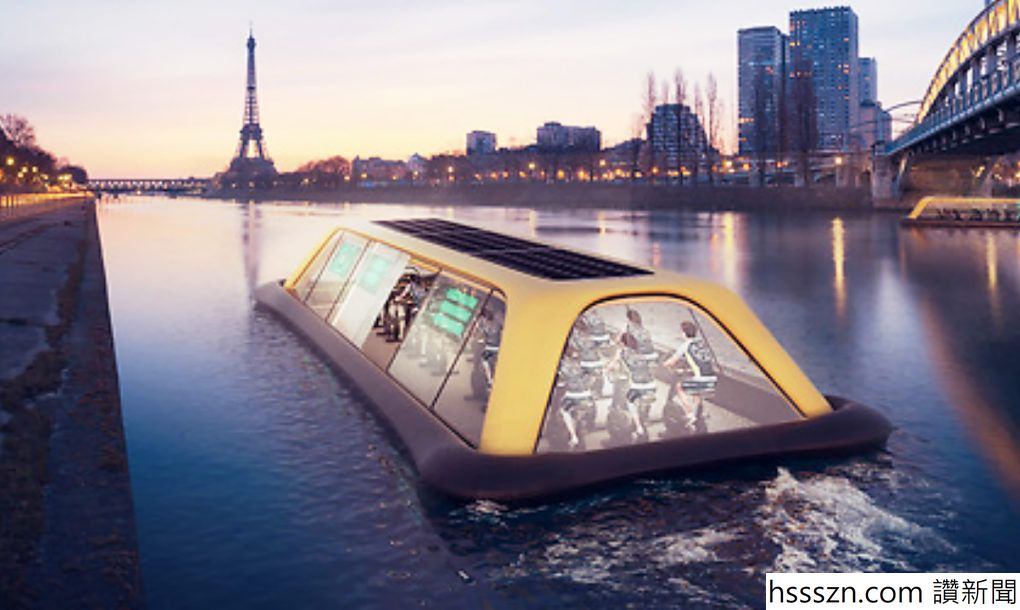 Floating Paris gym uses human energy to cruise down the Seine River (1)_1020_610