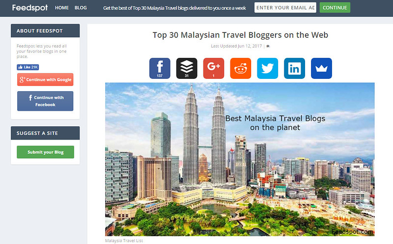 top 30 travel blog feedspot