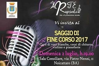 Noicattaro. Concerto L'Arte Rapsodica front