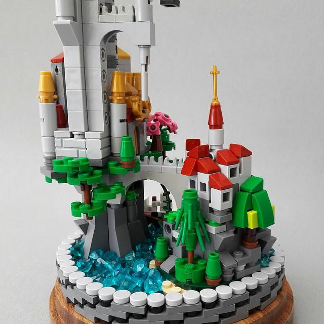 Micro Scale Castle in Glass Dome 4