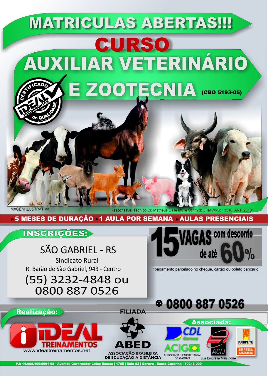 auxiliar veterinário e zootecnia cartaz 1