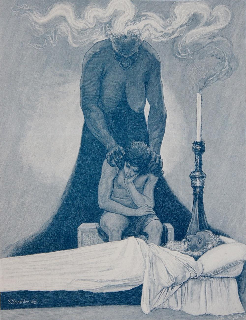 Sascha Schneider - Gram, 1894-95