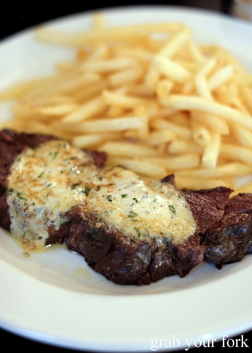 Steak frites at the Lansdowne Hotel in Chippendale Sydney