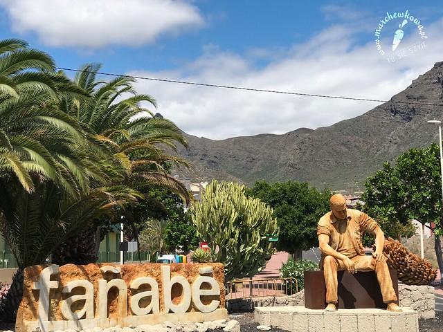 Teneryfa, maj 2017, wakacje, granica miejscowości Fañabé