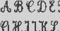 Preview of Cross Stitch Patterns: A to Z Alphabet Sampler (Large Letter Cursive)
