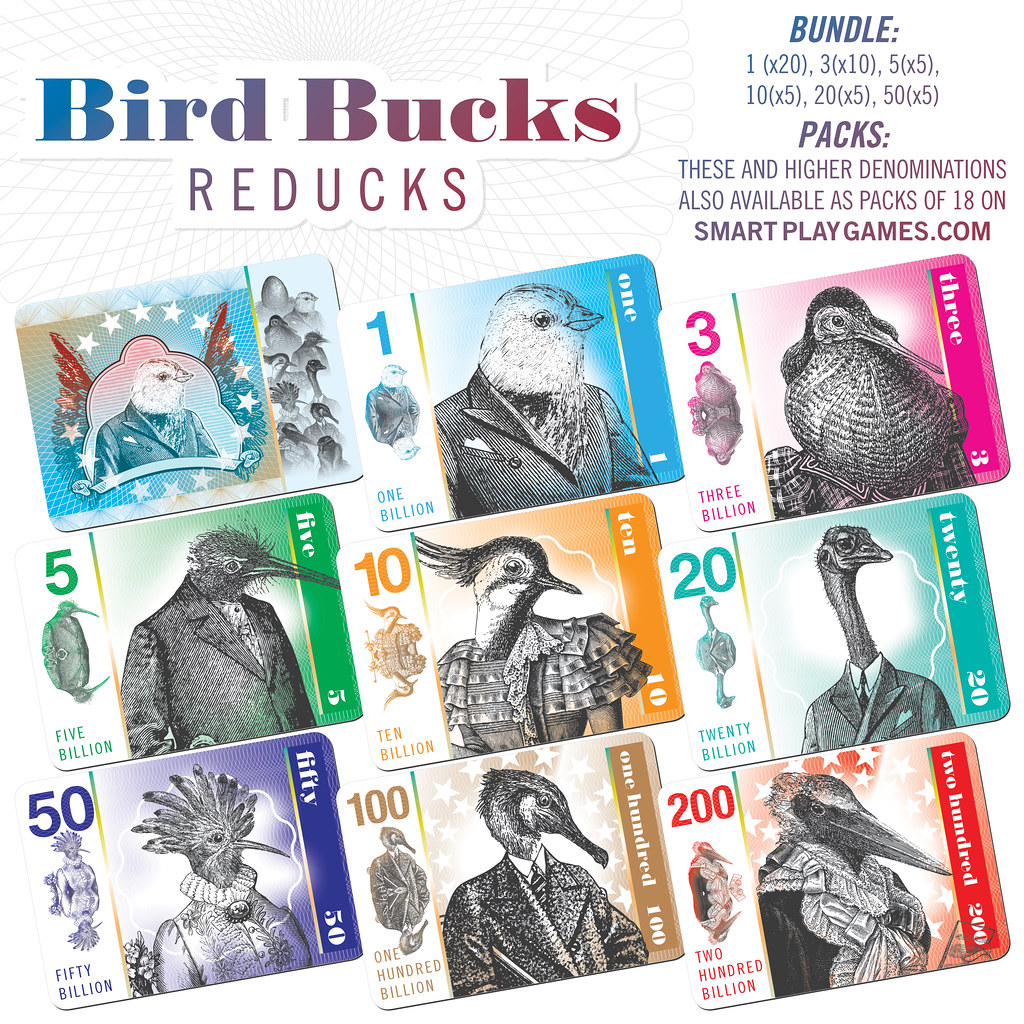 Sample of redesigned Bird Bucks cards