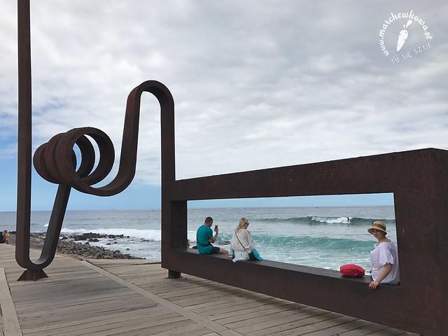Teneryfa, wyspa, maj 2017, rzeźba, Wiatrołap, Juan López Salvador
