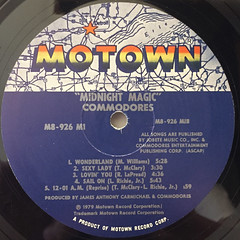 COMMODORES:MIDNIGHT MAGIC(LABEL SIDE-B)