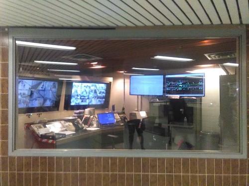 Control room window gone transparent