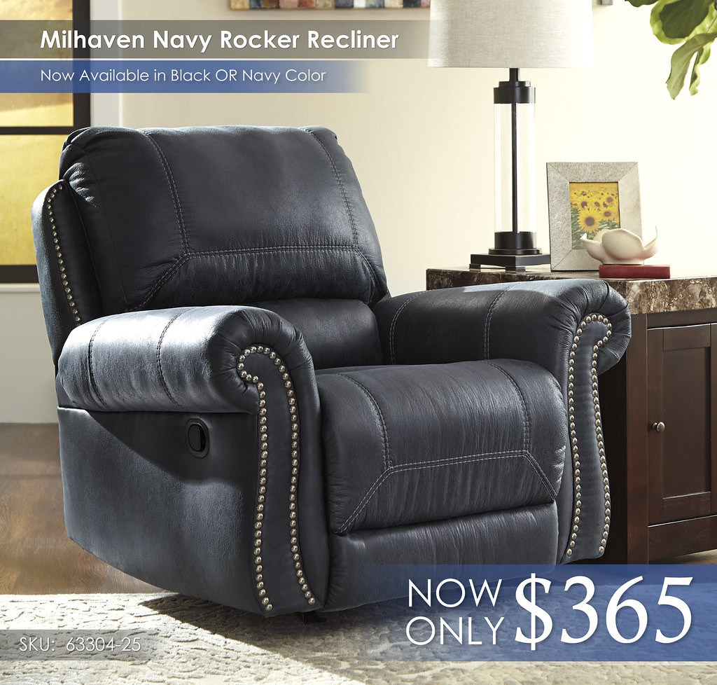 Millhaven Navy Rocker Recliner 63304-25