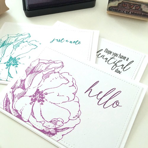 Antique rose note cards