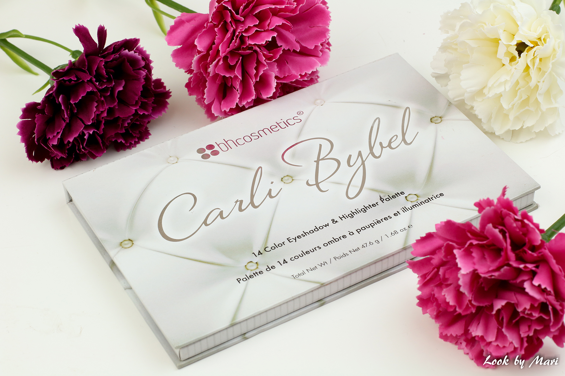 1 bh cosmetics x carli bybel 14 colors eyeshadow and highlighting palette review