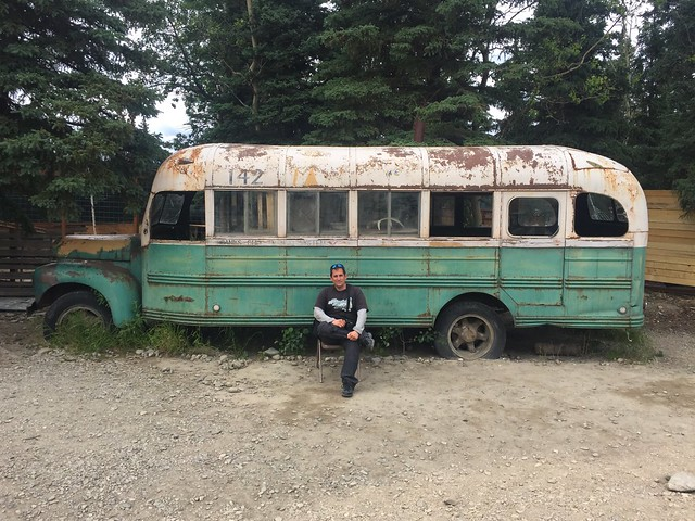 Sele en el Magic Bus de la película Into the Wild (Healy, Alaska)
