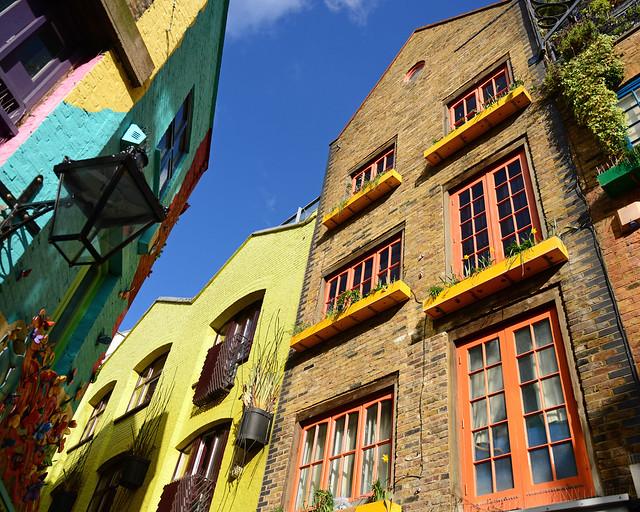 Fachadas de colores en Neals Yard