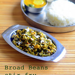 Avarakkai poriyal / Broad beans poriyal /  Broad beans curry recipe