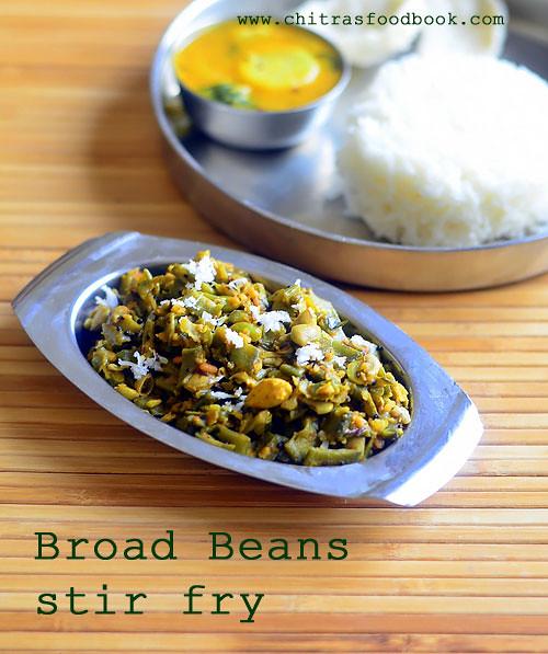 broad beans poriyal