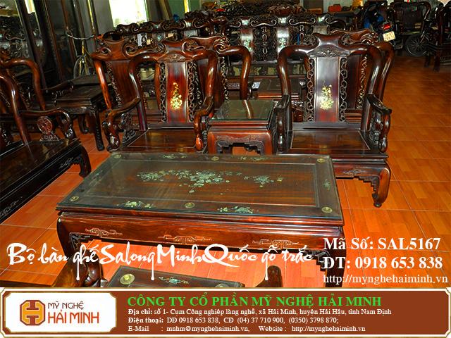 SAL5167d  Bo ban ghe Salong Minh Quoc go Trac  do go mynghehaiminh