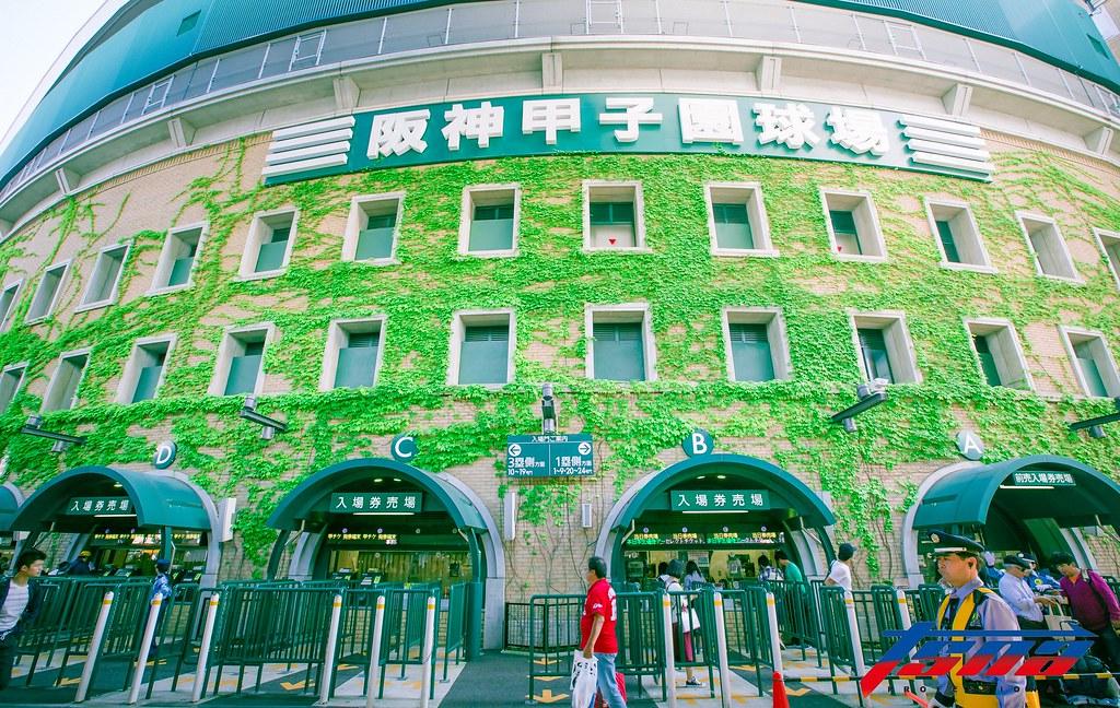 日本高中棒球聖地,阪神甲子園球場。(特派記者侯禕縉/現場拍攝)