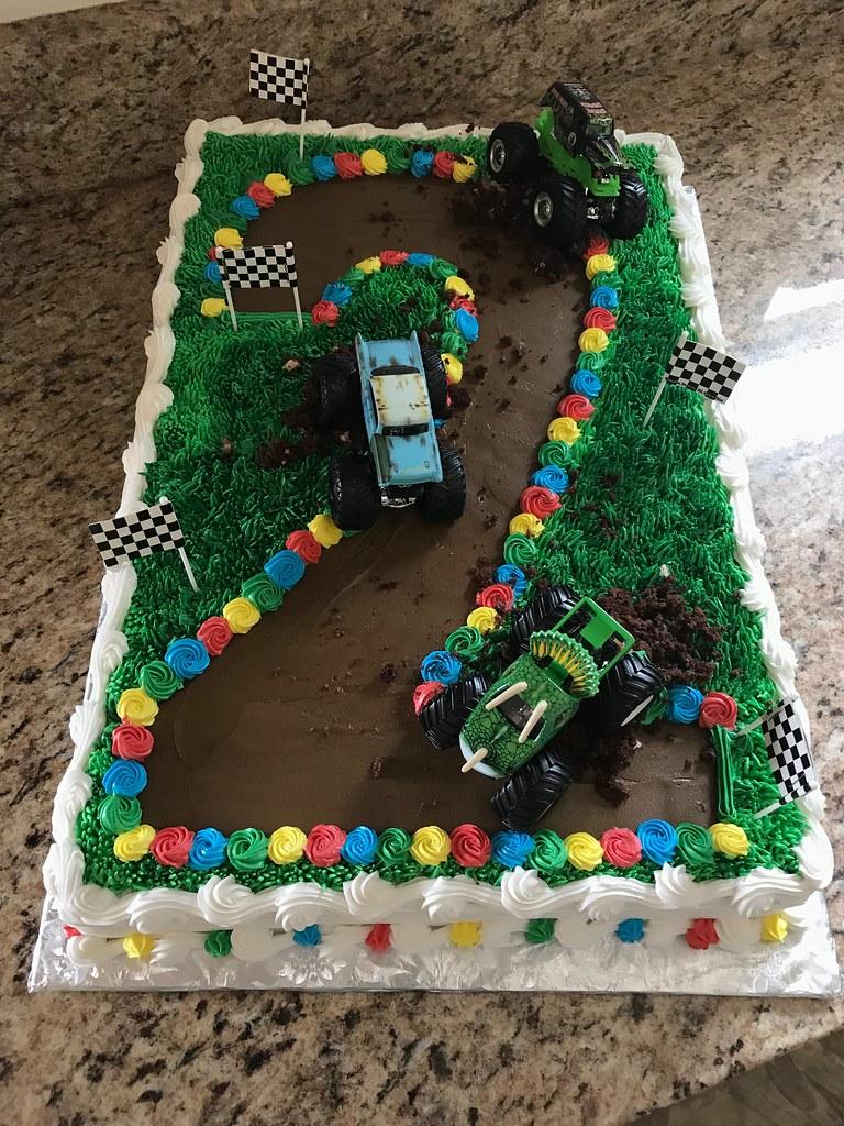 Monster Truck Cake 2nd Birthday Grace Ful Cakes Flickr