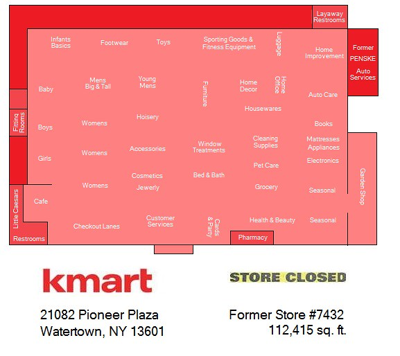 Watertown Kmart Map | This store isn\'t technically closed ye… | Flickr