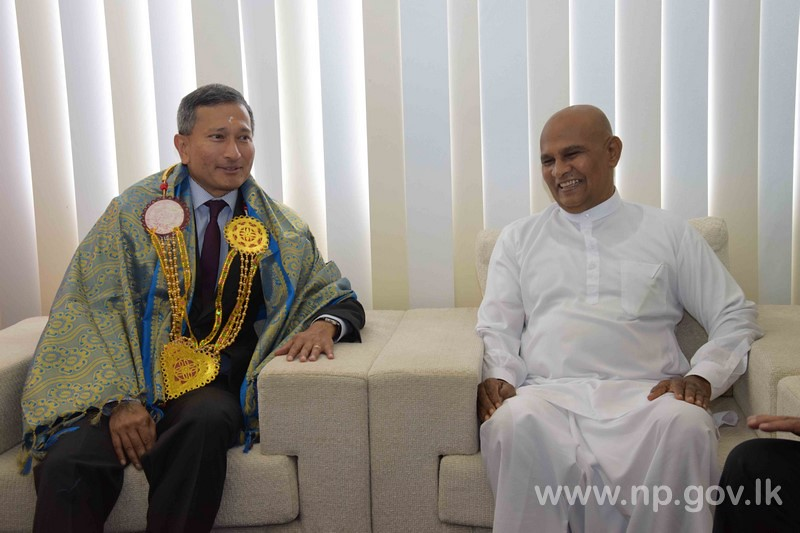 Singapore Foreign Affairs Minister calls on Governor
