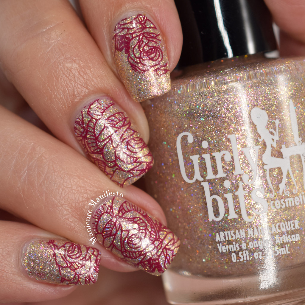 Born Pretty Store Wine Stamping Polish swatch
