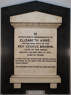 Memorial to Elizabeth Anne Browne (1870; wife of George Browne) | by Holy Trinity Church, Lenton