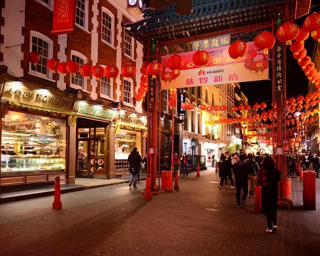 Entrada al barrio de Chinatown de Londres