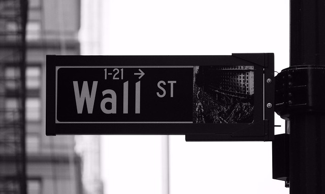 fixed income outlook Wall Street sign