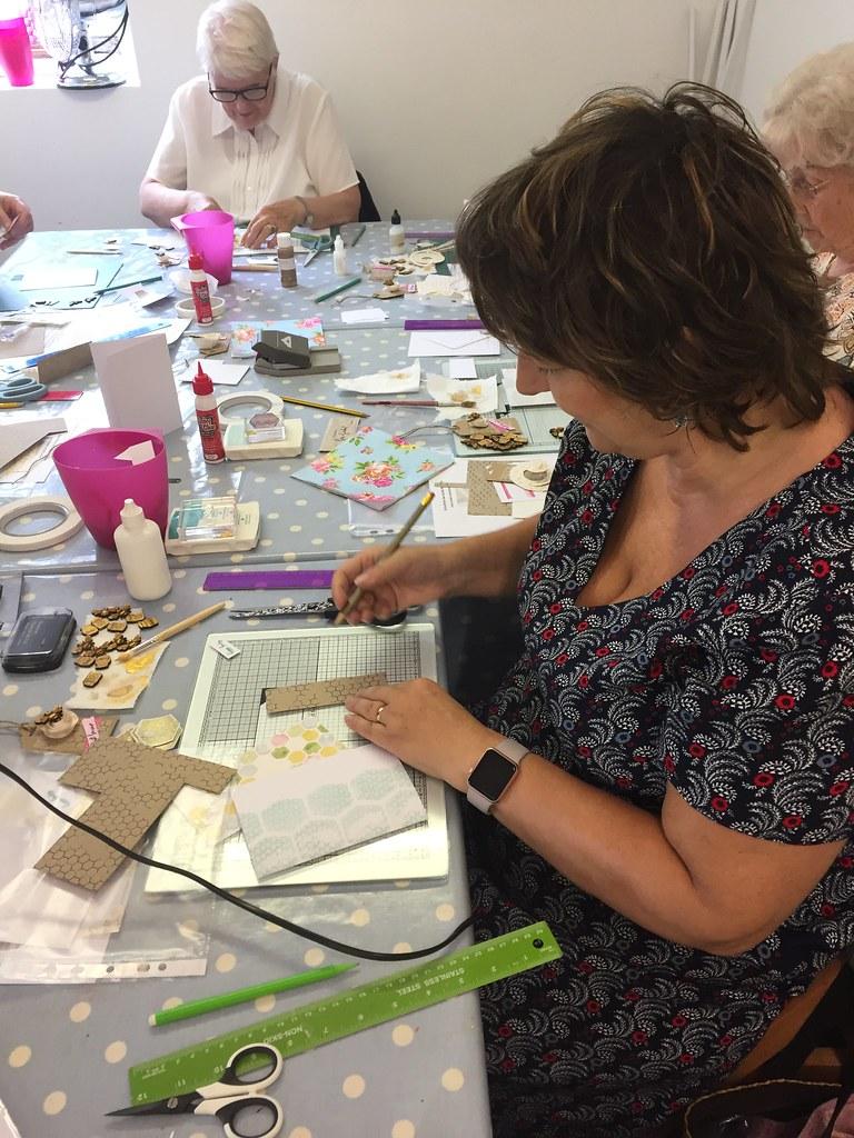 StickerKitten Bee Garden workshop at the Mulberry Bush - crafters hard at work