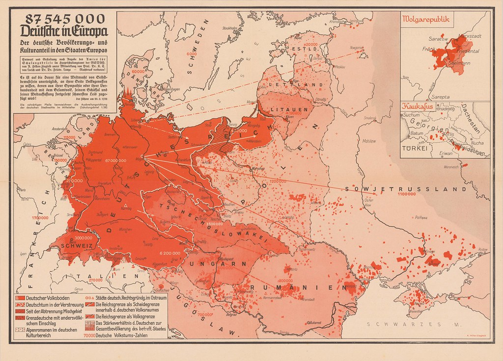 Distribution of Germans in Europe (1938)