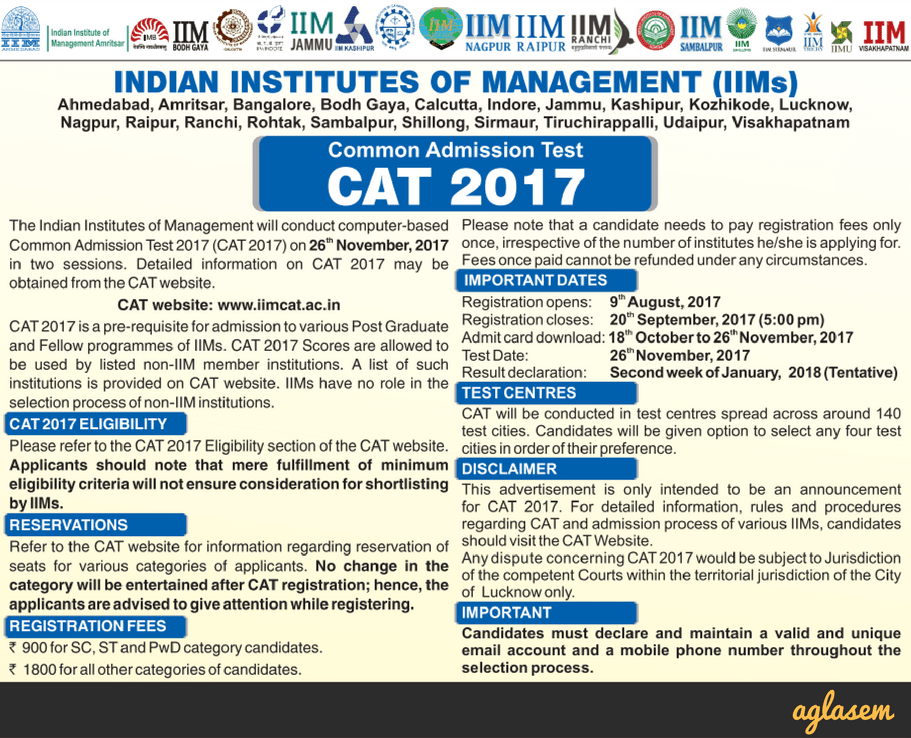 CAT 2017: Exam Date of IIM CAT 2017 Clashes With IIFT and IBPS PO!