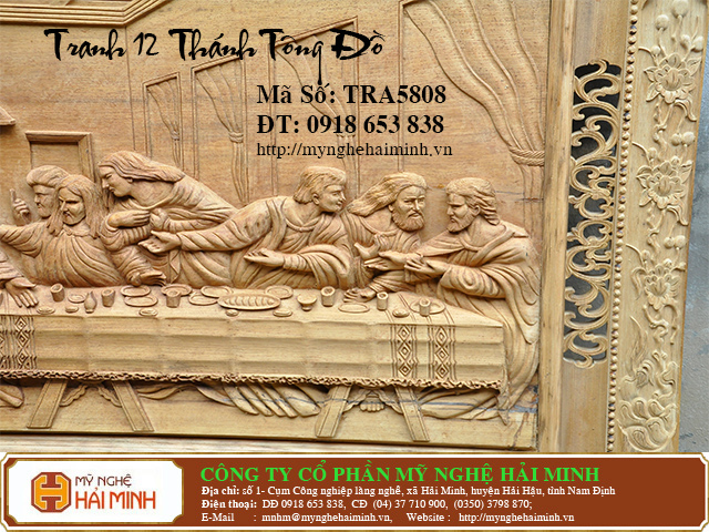 TRA5808f  Tranh 12 ong Thanh Tong Do  do go mynghehaiminh