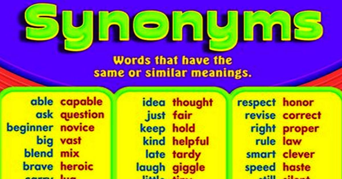 Common Synonyms in English 5