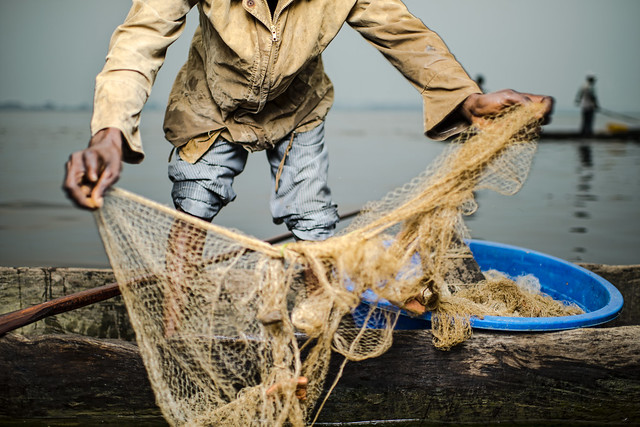 Fishing with a net