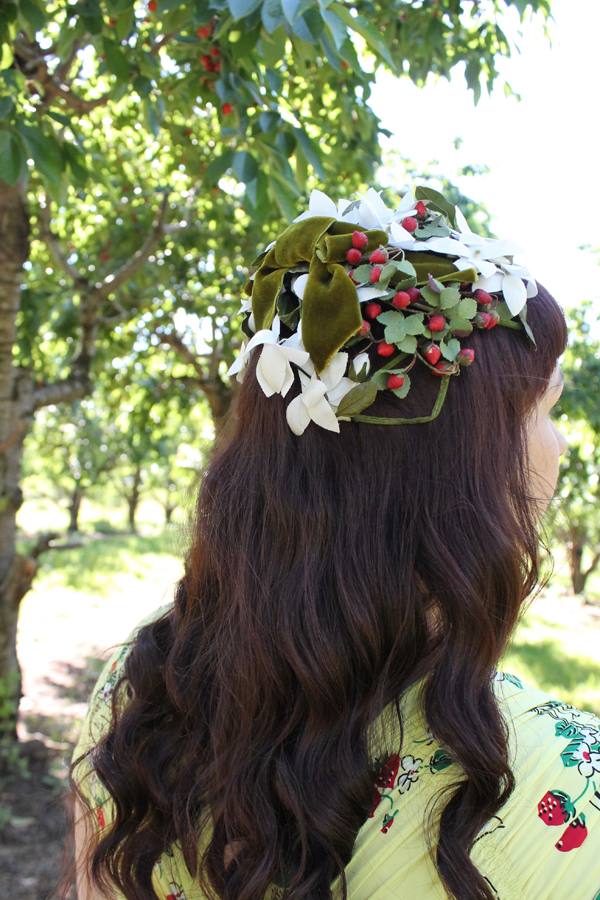 vintage strawberry hat