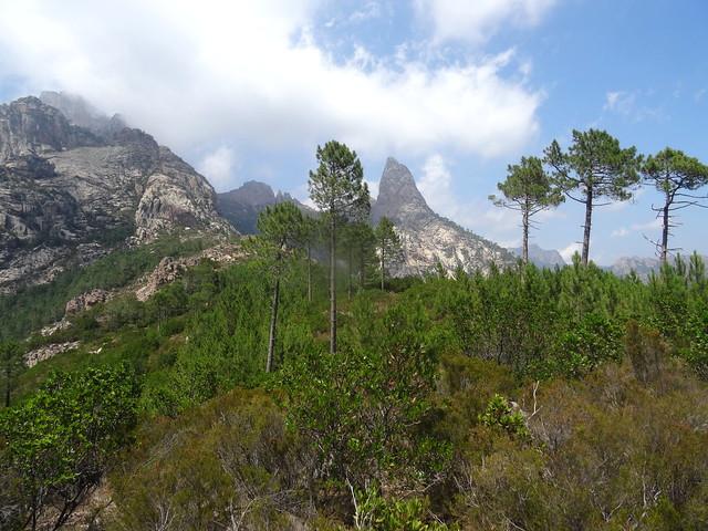 Sortie de la trace de montée : Punta Bunifazinca