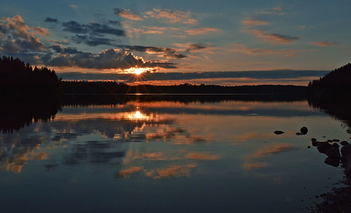 Sunset on the lake. #Finland #summer | by L.Lahtinen (nature photography)