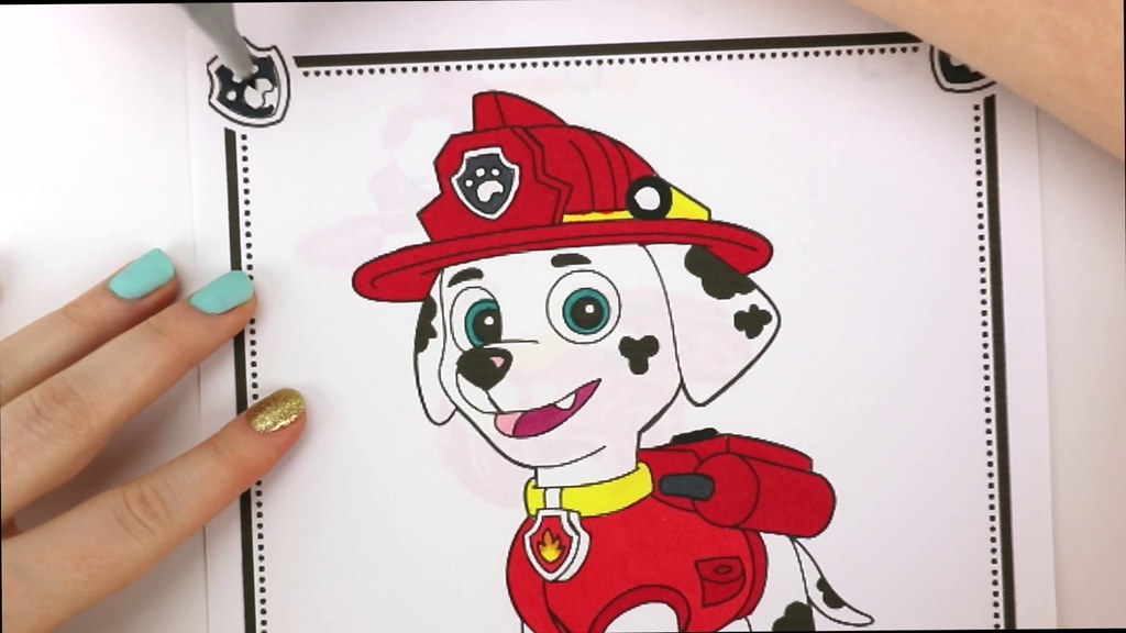 Coloring Pages Of Paw Patrol : Paw patrol coloring book videos for kids chase skye and mau flickr
