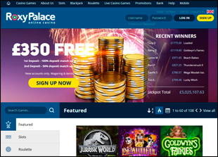 Roxy Palace Casino Home