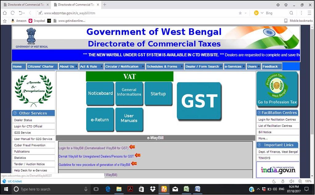 WBGST E-Way Bill