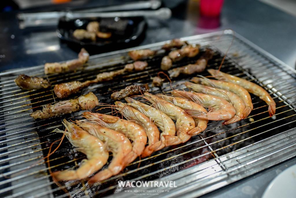 小琉球美食-筑安心燒物BBQ烤鮮蝦