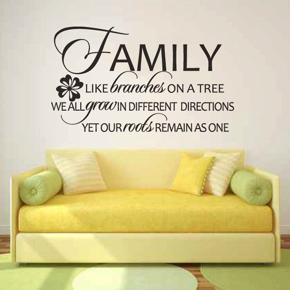 Family Like Branches Tree Wall Sticker Love Inspiration Saying Vinyl ...