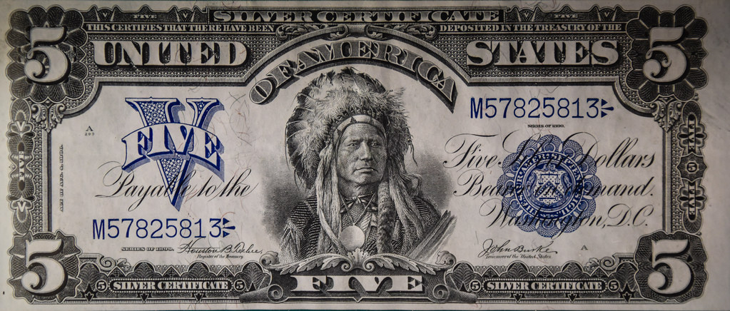 US $5 1899 Silver Certificate Note at Newman Money Museum … | Flickr