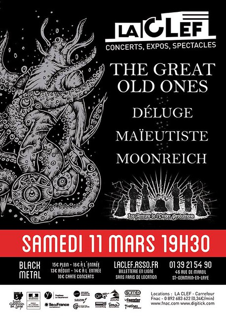 The Great Old Ones / Déluge / Maïeutiste / Moonreich @La Clef, St-Germain-en-Laye 11/03/2017