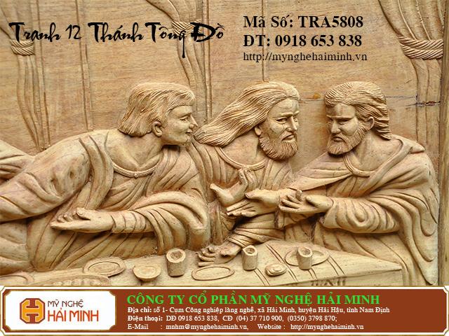 TRA5808h  Tranh 12 ong Thanh Tong Do  do go mynghehaiminh