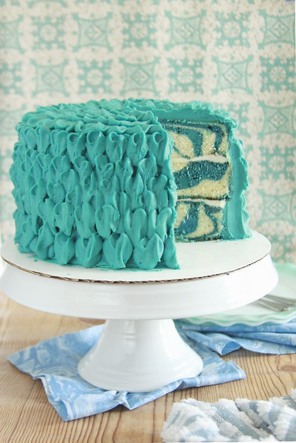 Blue Cheese Marble Layer Cake