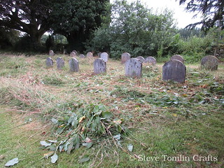 Scything the Quaker burial ground
